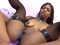 Teen black lesbians lick pussy with honey